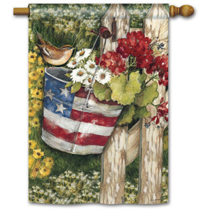 Patriotic Pail - Garden Flag - FlagsOnline.com by CRW Flags Inc.