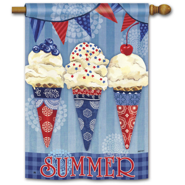 Scoops of Summer - House Flag - FlagsOnline.com by CRW Flags Inc.
