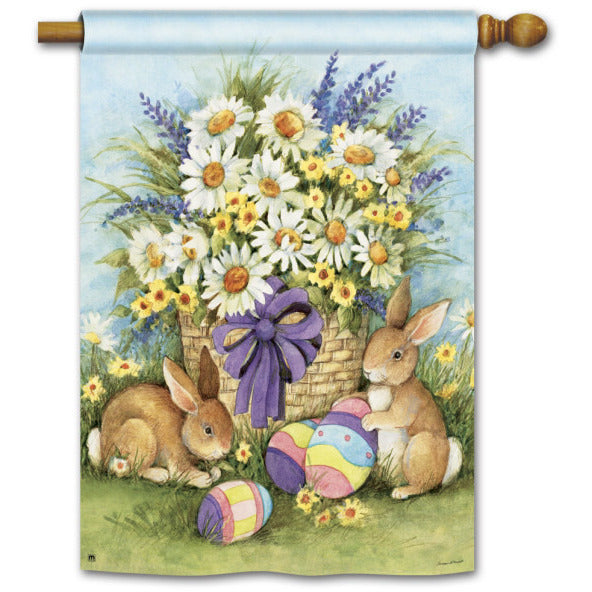 Easter Bunnies - House Flag - FlagsOnline.com by CRW Flags Inc.