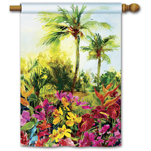 Tropical Paradise - House Flag - FlagsOnline.com by CRW Flags Inc.