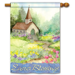 Easter Blessings - House Flag - FlagsOnline.com by CRW Flags Inc.
