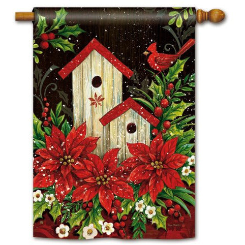 Winter Birdhouse - House Flag - FlagsOnline.com by CRW Flags Inc.