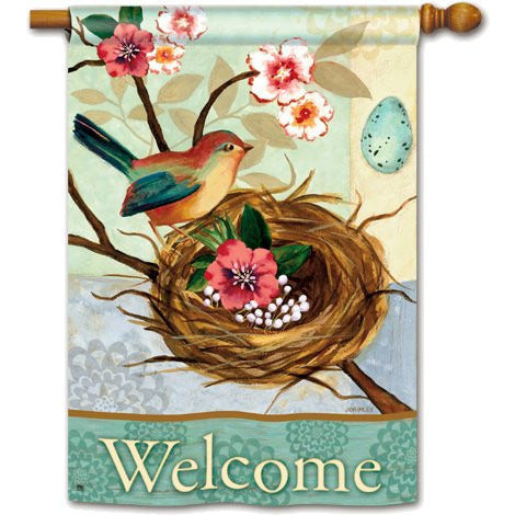 Birdnest & Blossoms - Garden Flag - FlagsOnline.com by CRW Flags Inc.
