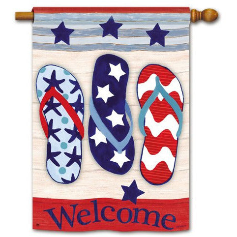 Patriotic Flip Flops - House Flag - FlagsOnline.com by CRW Flags Inc.