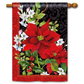 Holiday Floral - House Flag - FlagsOnline.com by CRW Flags Inc.