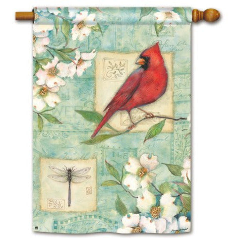 Dogwood Cardinal - Garden Flag - FlagsOnline.com by CRW Flags Inc.