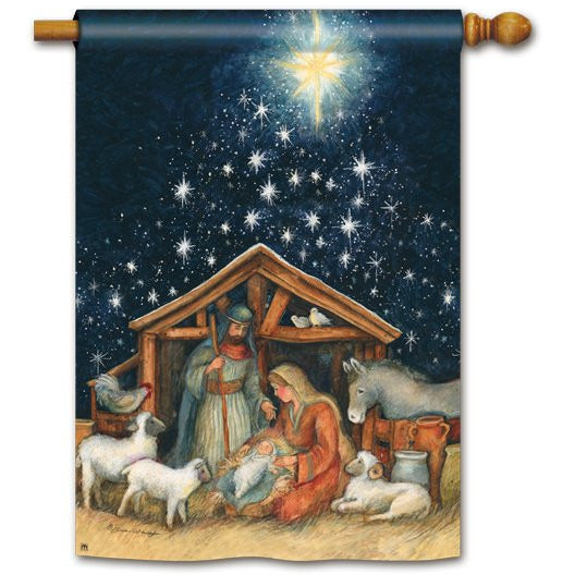 Holy Night - Garden Flag - FlagsOnline.com by CRW Flags Inc.