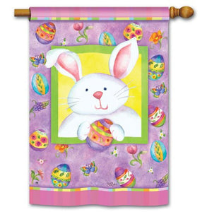 Happy Easter Bunny - House Flag - FlagsOnline.com by CRW Flags Inc.
