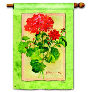Geranium Splendor - House Flag - FlagsOnline.com by CRW Flags Inc.