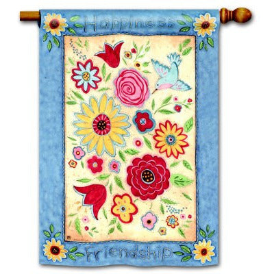 Friendship Quilt - Garden Flag