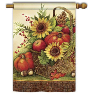 Fall Basket - Garden Flag - FlagsOnline.com by CRW Flags Inc.