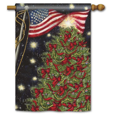 Patriotic Christmas - House Flag - FlagsOnline.com by CRW Flags Inc.
