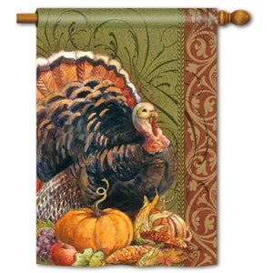 Thanksgiving Greeting - House Flag - FlagsOnline.com by CRW Flags Inc.