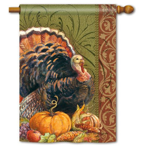 Thanksgiving Greeting - House Flag