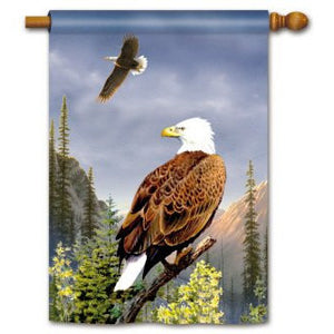 Bald Eagles - House Flag - FlagsOnline.com by CRW Flags Inc.