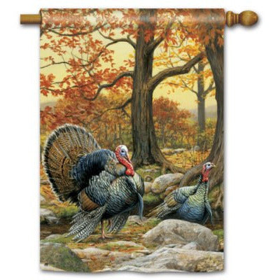 Turkeys - Garden Flag - FlagsOnline.com by CRW Flags Inc.