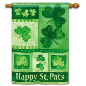 Shamrock Collage - House Flag - FlagsOnline.com by CRW Flags Inc.