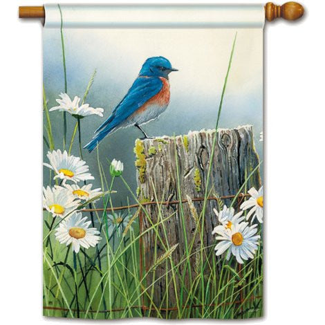 Morning Bluebird - House Flag - FlagsOnline.com by CRW Flags Inc.