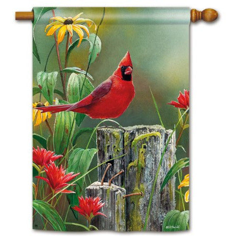Summer Cardinal - House Flag - FlagsOnline.com by CRW Flags Inc.