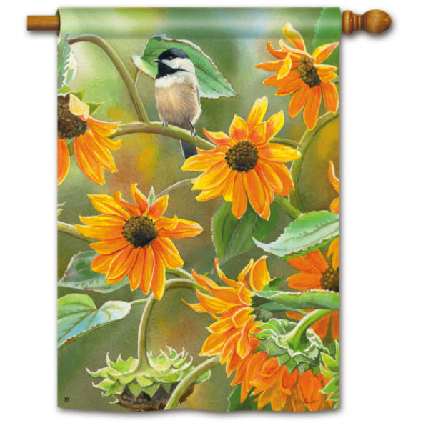 Sunflower Chickadee - House Flag - FlagsOnline.com by CRW Flags Inc.
