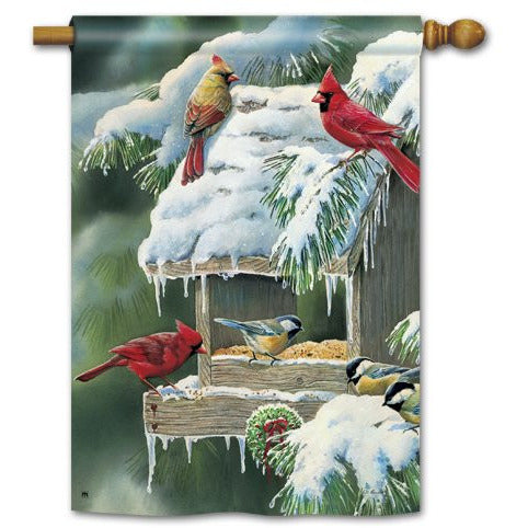 Winter Feeder - Garden Flag - FlagsOnline.com by CRW Flags Inc.