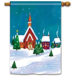 Winter Village - House Flag - FlagsOnline.com by CRW Flags Inc.