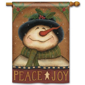 Joy Snowman - House Flag - FlagsOnline.com by CRW Flags Inc.