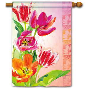 Spring Tulips - House Flag - FlagsOnline.com by CRW Flags Inc.