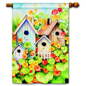 Birdhouse Garden - House Flag - FlagsOnline.com by CRW Flags Inc.