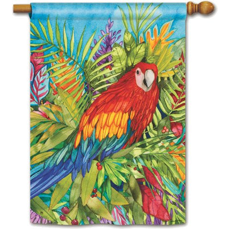 Pretty Parrot - House Flag - FlagsOnline.com by CRW Flags Inc.