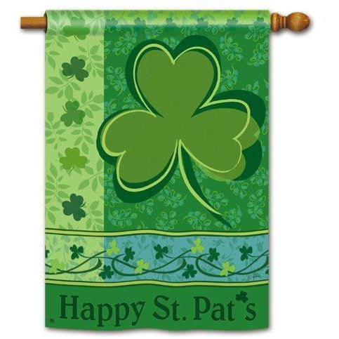 Happy St. Pat's - House Flag - FlagsOnline.com by CRW Flags Inc.