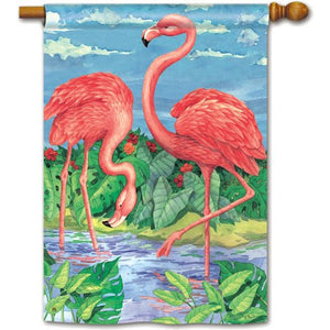 Flamingo Pair - House Flag - FlagsOnline.com by CRW Flags Inc.