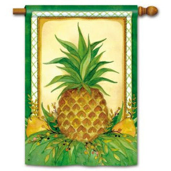 Pineapple And Pears - House Flag - FlagsOnline.com by CRW Flags Inc.