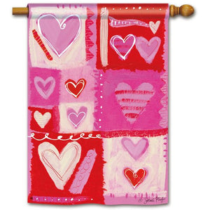 Hearts Galore - House Flag - FlagsOnline.com by CRW Flags Inc.