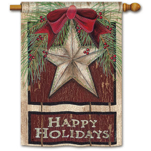 Holiday Barn Star - House Flag - FlagsOnline.com by CRW Flags Inc.