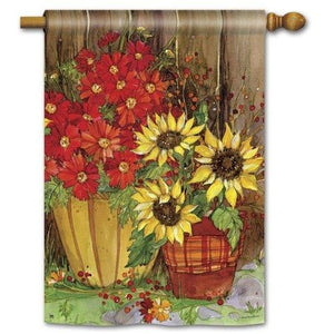 Fall Flowers - House Flag