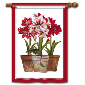 Three Amaryllis - Garden Flag - FlagsOnline.com by CRW Flags Inc.