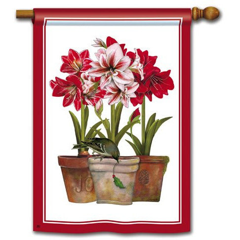 Three Amaryllis - Garden Flag
