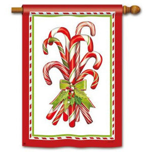 Candy Canes - House Flag - FlagsOnline.com by CRW Flags Inc.