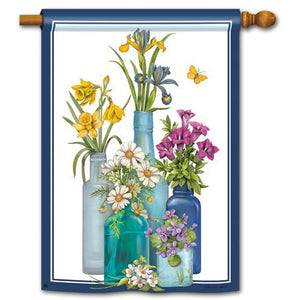 Fresh Cut Flowers - House Flag - FlagsOnline.com by CRW Flags Inc.