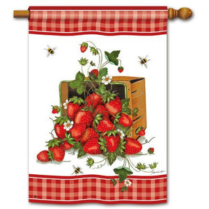 Strawberry Basket - House Flag - FlagsOnline.com by CRW Flags Inc.