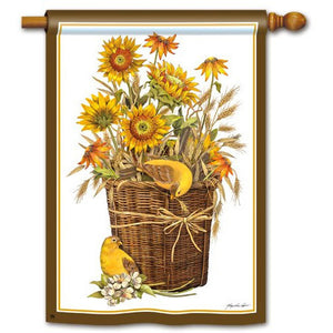 Summer Sunflowers - House Flag - FlagsOnline.com by CRW Flags Inc.