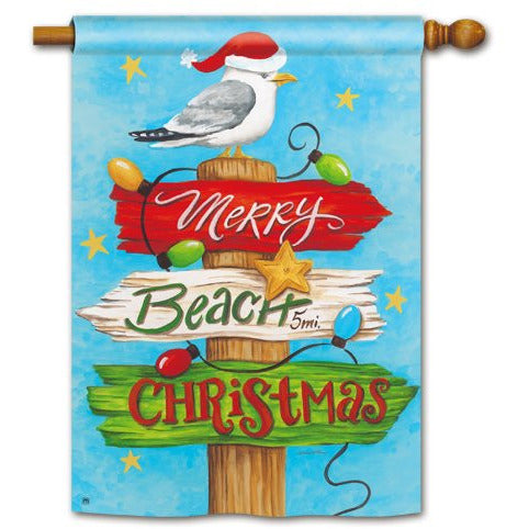 Beach Christmas - House Flag