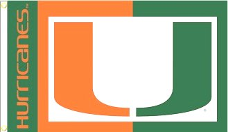 University of Miami 3x5ft Flag