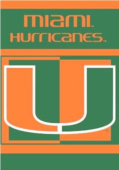 University of Miami House Flag 2 Sided