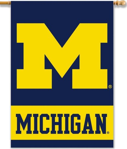 University of Michigan House Flag 2 Sided