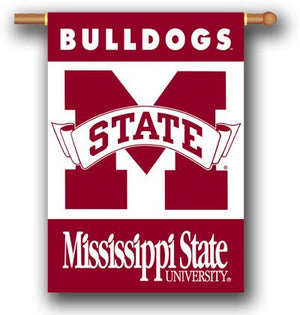 Mississippi State University House Flag 2 Sided