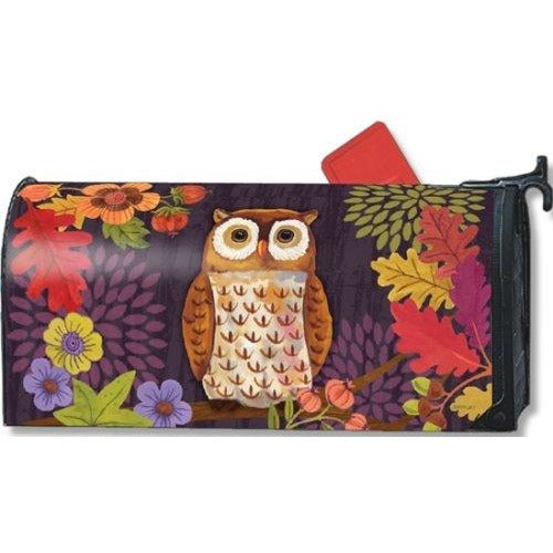 Floral Owl Standard Mailbox Cover