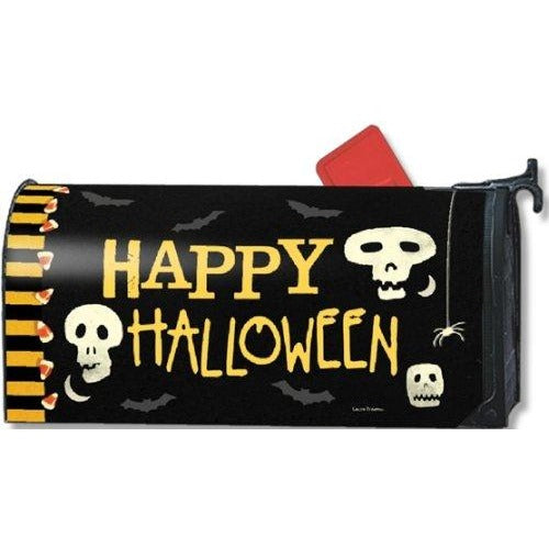 Skeleton Halloween Standard Mailbox Cover