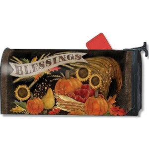 Cornucopia Blessings Standard Mailbox Cover - FlagsOnline.com by CRW Flags Inc.